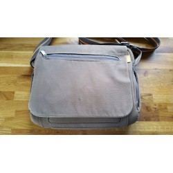 Brown fabric laptop bag...